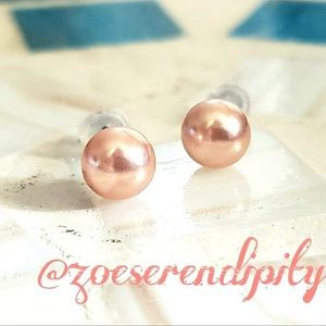 Pink 6mm Freshwater Cultured Pearl Earrings